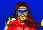 لعبة تلبيس فتاة الغوص