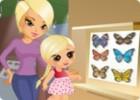 لعبة تلبيس الام وابنتها في المتحف
