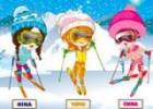 العاب الفتيات الثلاثة والتزلج على الجليد