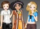 لعبة تلبيس ثلاث بنات