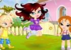 لعبة تلبيس فتاة النط فوق الحبل