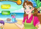 لعبة مطعم الايسكريم على الشاطئ