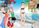لعبة تلبيس ملابس البحر