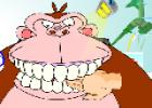 لعبة تنظيف اسنان الغوريلا