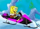 لعبة سبونج بوب تزحلق في الثلج
