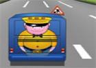 لعبة سيارات مع باص المدرسة