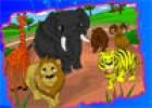لعبة تلوين الحيوانات في الغابة