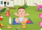 لعبة العناية بالطفل في الحديقة