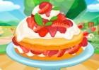 العاب طبخ فطيرة شورت الفراولة