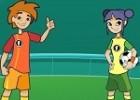 لعبة كرة قدم الاولاد ضد البنات