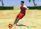 لعبة كرة القدم على البحر