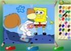 لعبة سبونج بوب تلوين للاطفال
