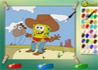 لعبة سبونج بوب الكاوبوي في الصحراء