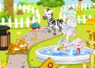 لعبة تنظيف حديقة الحيوان